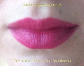 Lips Tom Ford Francesco outdoors