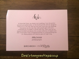 Birchbox Rachel 2