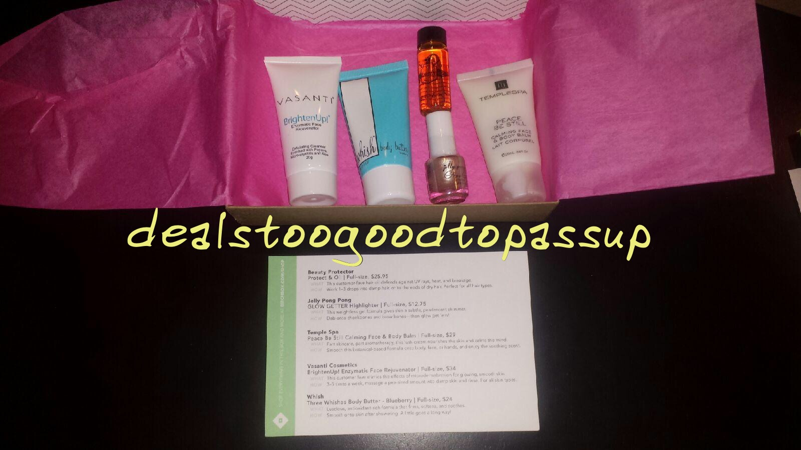 Her First Box Arrived A Bit Before Birthday The Item That Jumped Out At Me Was Beauty Protector Protect Oil This Is Popular Birchbox