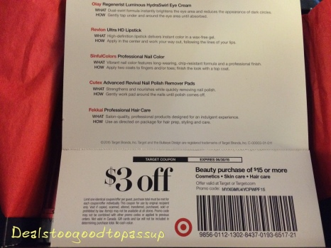 Target Beauty Box Summer 2015 5