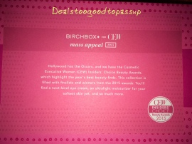 Birchbox CEW Mass Appeal 4