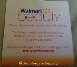 Walmart Beauty Box Fall 2015 7