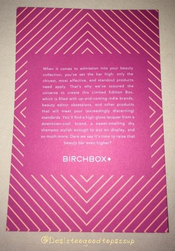 Birchbox Luxe List 5