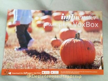 Influenster Pumpkin VoxBox 2