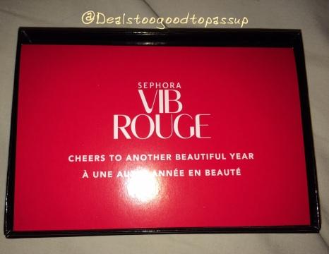 Sephora VIB Rouge Qualification 2015 2