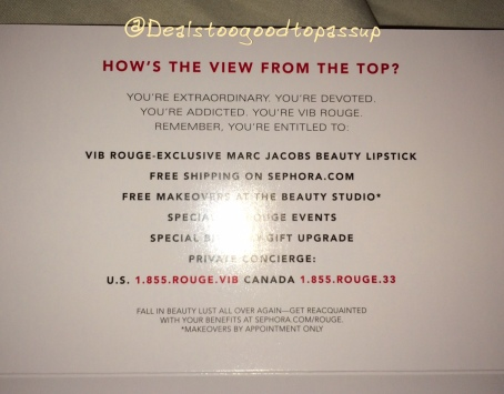 Sephora VIB Rouge Qualification 2015 4