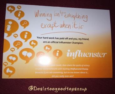 Influenster Sally Hansen Badge Win 3