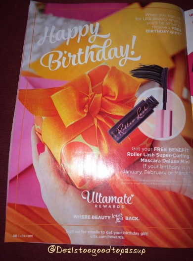 Ulta Birthday Gift 2016
