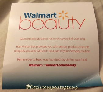 Walmart Beauty Box Winter 2015:2016 6