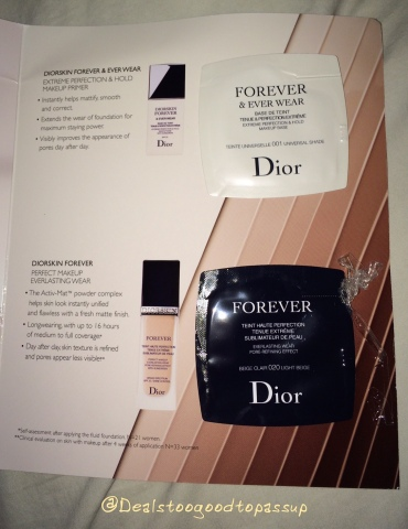 Dior Foundation free sample 2