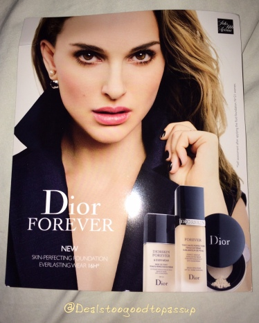 Dior Foundation free sample