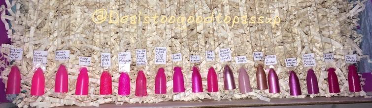 Nail Polish Swatches Pinks 2