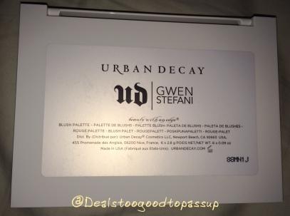 Urban Decay Gwen Stefani Blush Palette 4