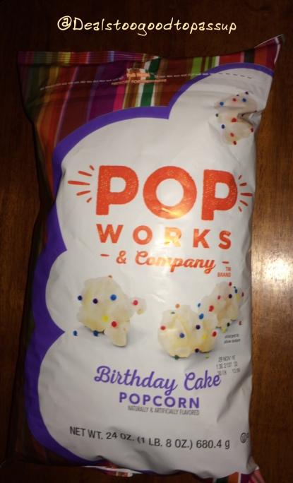 Pop Works Birthday Cake Popcorn