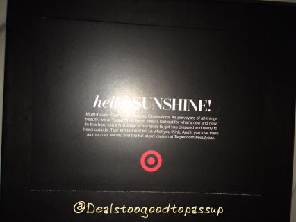 Target Beauty Box April 2016 2