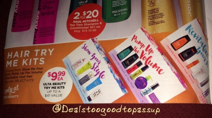 Ulta Hair Try Me Kits