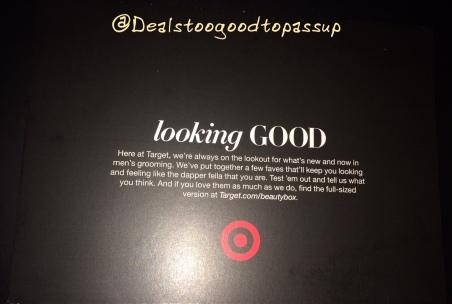 Target Men's Beauty Box June 2016 2