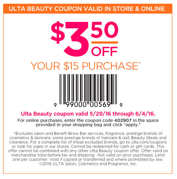 Most popular Ulta coupons.