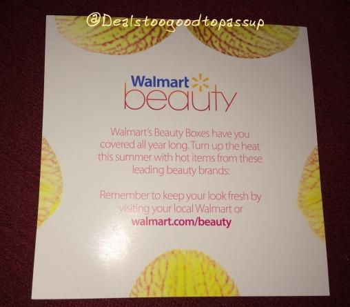 Walmart Beauty Box Summer 2016 4