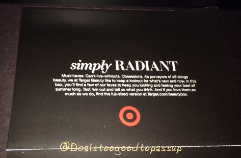 Target Beauty Box Simply Radiant 4