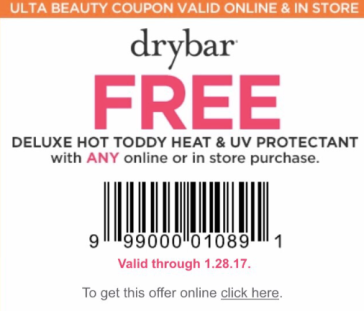 Drybar coupon code