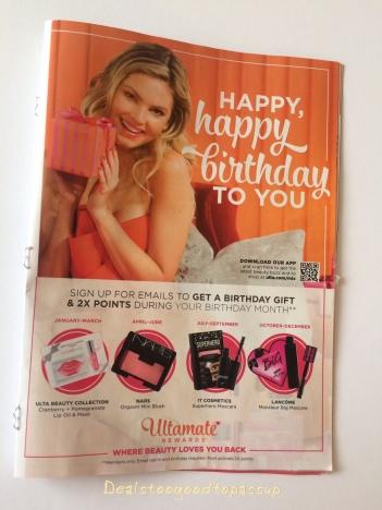 Ulta Birthday Gift Quarter Four October November And December