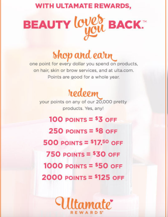 Earning and redeeming points at ulta under the ultamate rewards