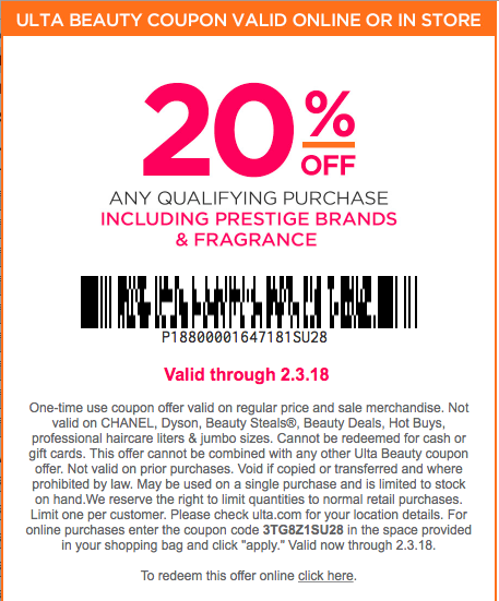 ulta coupon 20 off printable in store