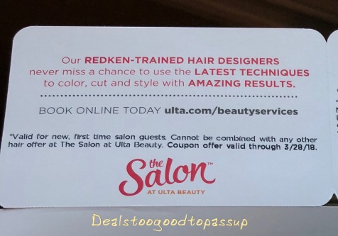 Everything you need to know about ulta coupons deals too good to they are always general coupons though and almost never need a bar code fandeluxe Choice Image