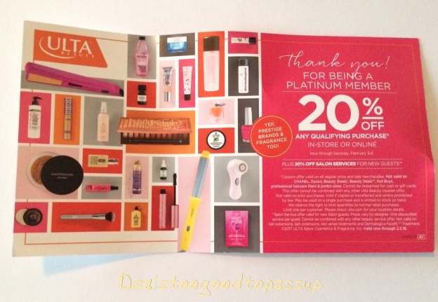 Cover Store Coupon >> Ulta Beauty 20 Off Prestige Coupon Schedule And Rules 2019