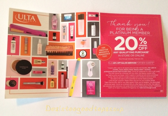 Ulta Beauty 20 Off Prestige Coupon Schedule And Rules