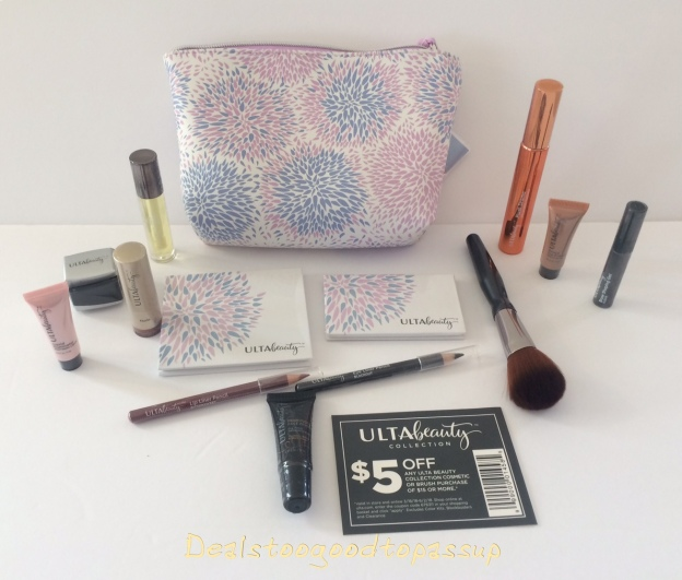 Review of the Free 14-Piece Gift Bag With a $19.50 Ulta Beauty Makeup, Brushes, Beauty tools, or Skincare Purchase