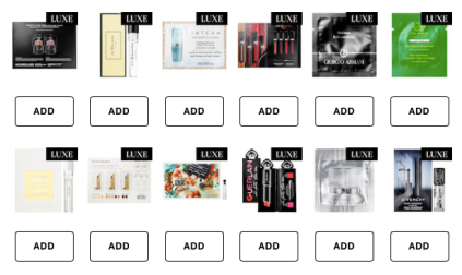 5 Free Samples Instead of the Standard 3 with any Purchase