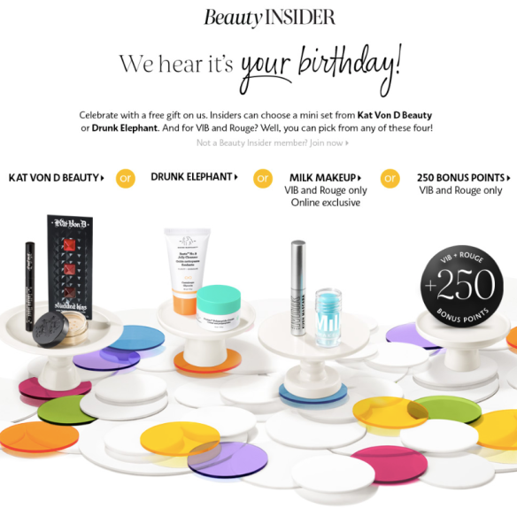 Free 2019 Sephora Birthday Gifts From Kat Von D Drunk Elephant And Milk Makeup