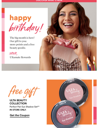 2019 Ulta Birthday Gift