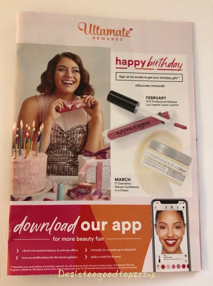 Ulta Beauty Birthday Gift February 2019