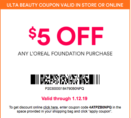 coupons for ulta 2019