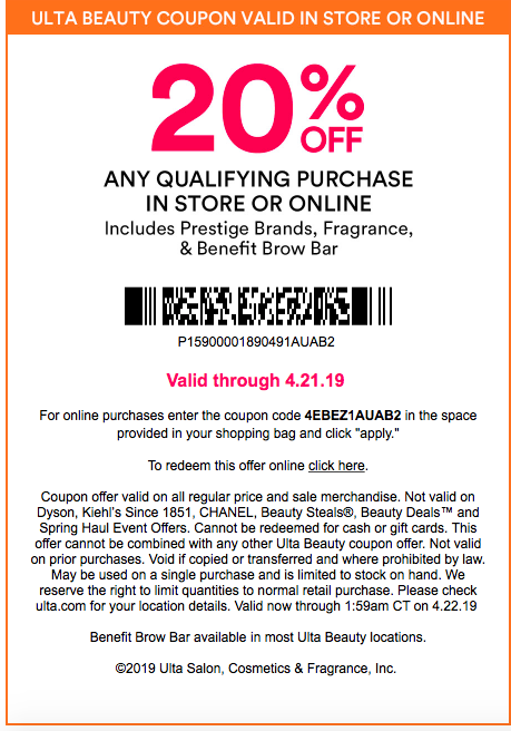 ulta coupon in store november 2019