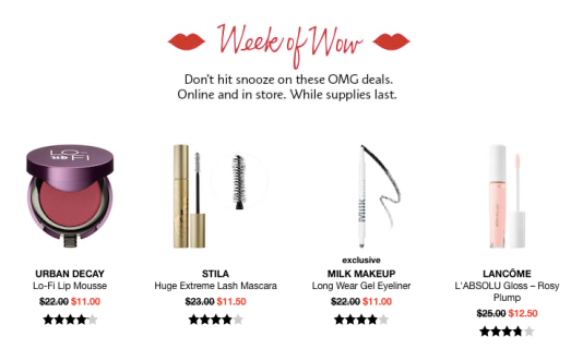 Sephora Weekly Wow 2019 Preview – A Week at a Time | Deals Too Good