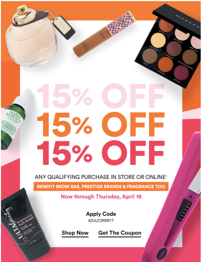 8eaaee79912 The first 15% off prestige offer for 2019 released on April 12th. It is  only for UltaMate members as Platinum and Diamond members received a 20% off  ...