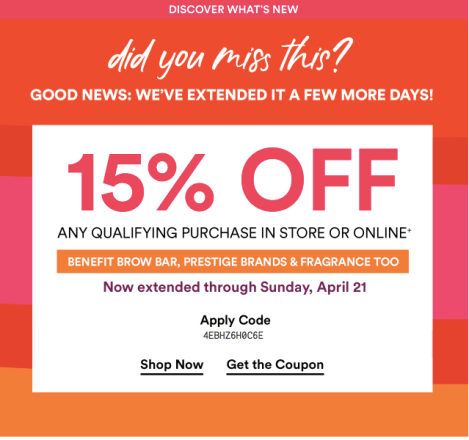 0c03e27c650 Ulta Beauty 2019 15% Off Prestige Coupon Schedule and Rules | Deals ...