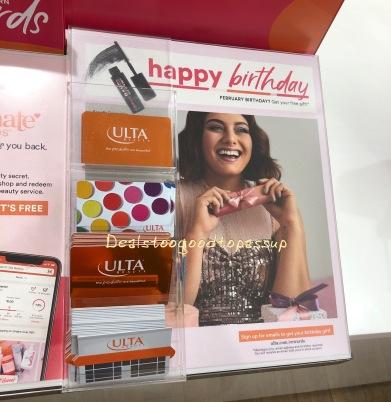 Ulta Birthday Gift February 2020