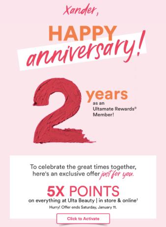 Ulta Anniversary 5x Points 2020 Offer 2